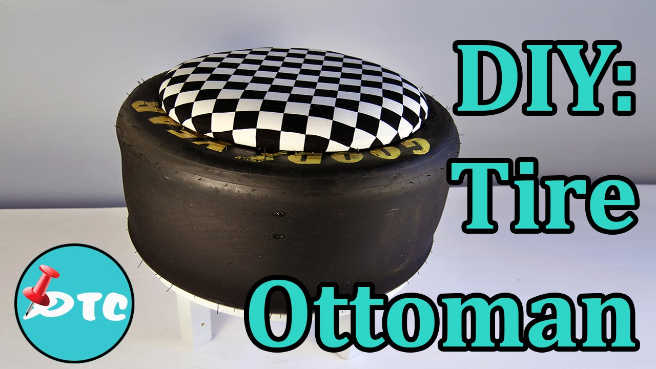 How to recycle your old tire into a diy ottoman youtube solutioingenieria Image collections
