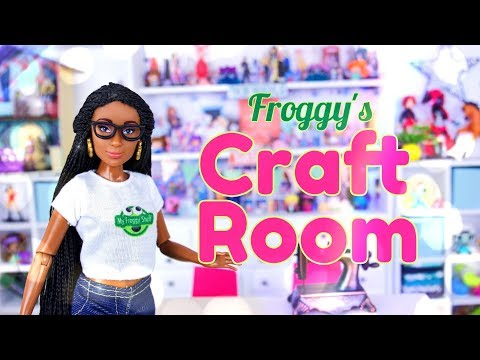 DIY - How to Make: Froggy's Craft Room | Table | Shelves | Printables & more