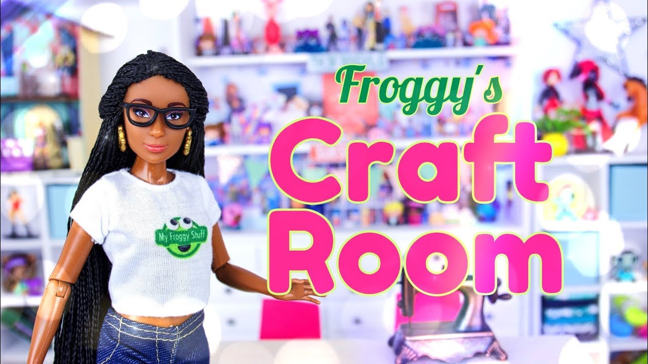 Diy How To Make Froggy S Craft Room Table Shelves Printables More Youtube