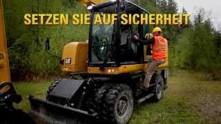 M318F und M320F Mobilbagger Der F-Serie von Cat® bei der Arbeit