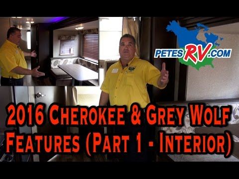 2016 Forest River Cherokee & Grey Wolf Travel Trailer Features (Part 1 of 2) (CC)