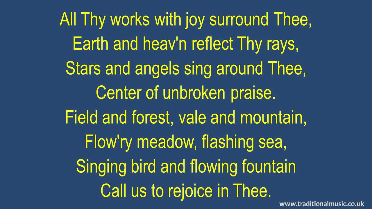 Joyful, Joyful, We Adore Thee > Lyrics | Henry J. van Dyke
