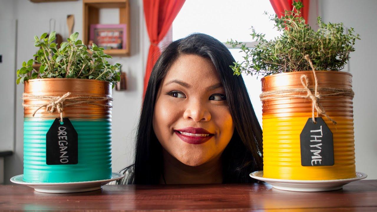 Diy Indoor Herb Garden diy indoor herb garden | just eat life - youtube