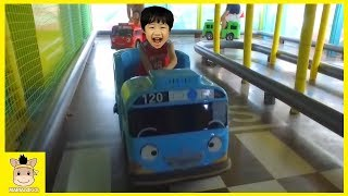 Indoor Playground Family Fun Play Area Baby Nursery Rhymes Tayo Bus in Real Life | MariAndKids Toys