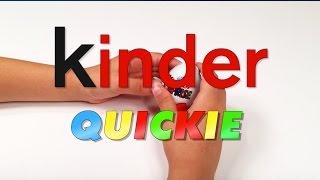 KINDER QUICKIE - Kid Unwraps Minions Kinder Surprise Egg