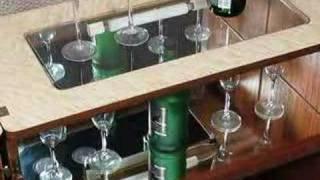 Ashecliffe Antique Walnut Art Deco Bar Cocktail Cabinet 1930