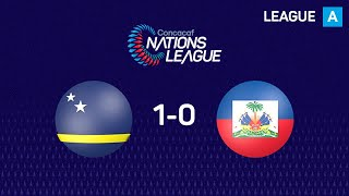 Curacaofutbol and Haiti played a very even match