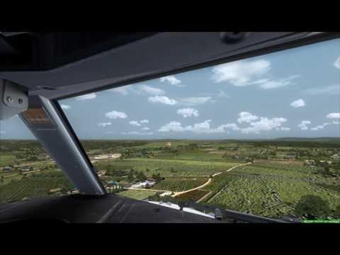Cockpit 737-900ER landing at Surat Thani [FSX]