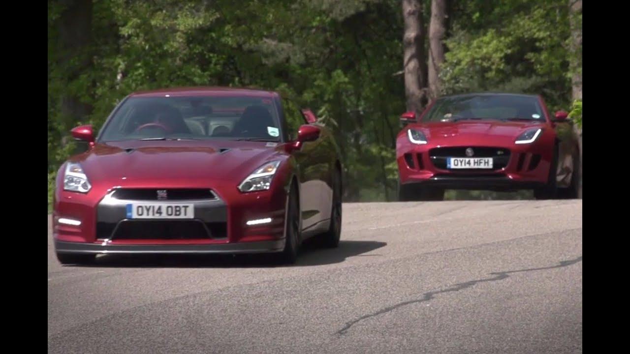 Nissan Gt R Vs Jaguar F Type R Coupe Time Trial Contest