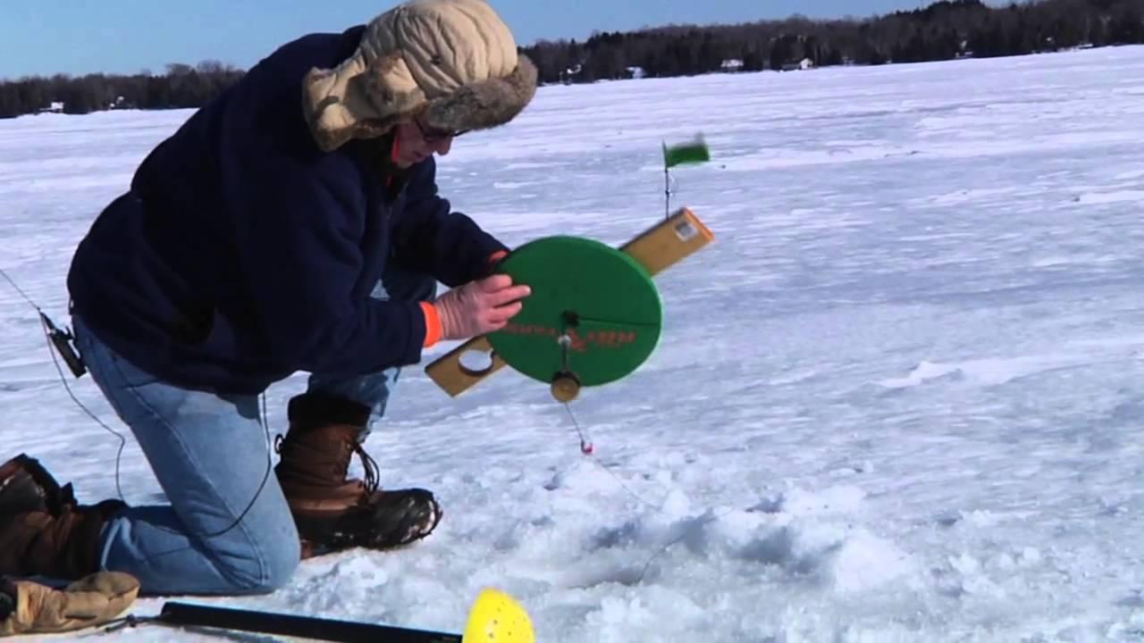 Ice Fishing On Kangaroo Lake In Door County Youtube