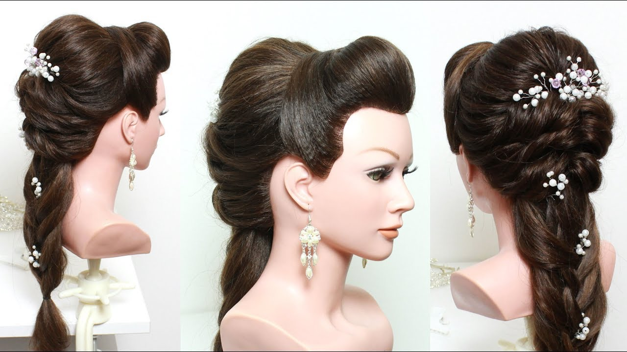 Fancy Hairstyle For Wedding, Party Or Function. Long Hair ...