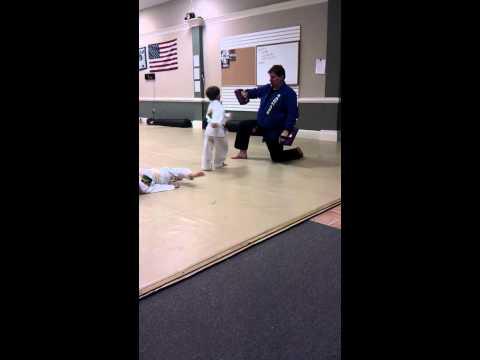 Mason Samuel hammer punches and side kicks