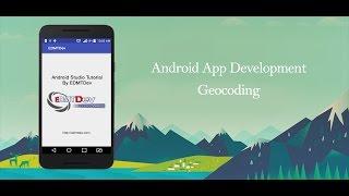 Android Studio Tutorial -  Geocoding API Free HD Video