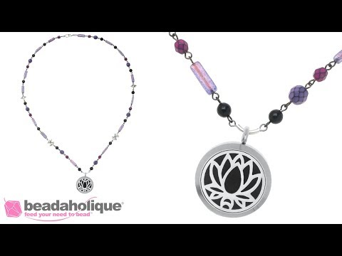 How to Make the Violet Lotus Aromatherapy Necklace