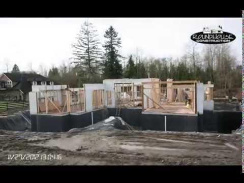 R House r-28 icf house timelapse - youtube