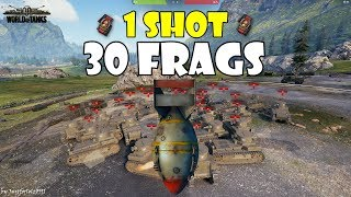 World of Tanks - Funny Moments | 1 SHOT = 30 FRAGS (WoT Bombardier Record?)