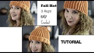 Easy 3 hats in one Crochet Tutorial