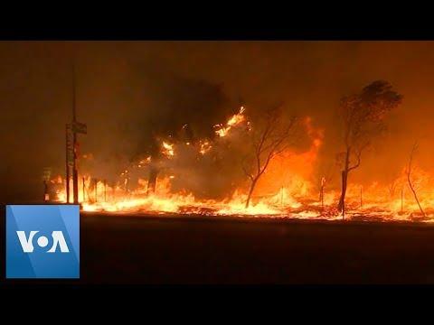 California Wildfires Destroy Homes Near Los Angeles
