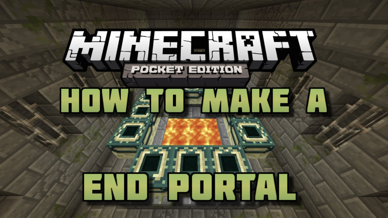 mine craft how to build end portal