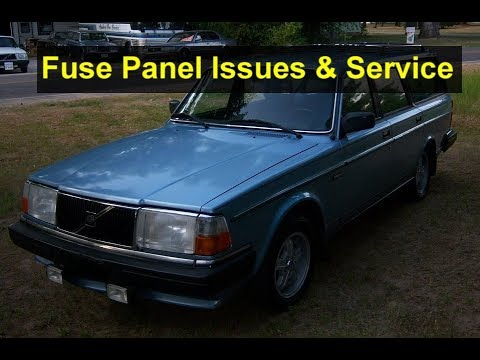 volvo 240 series fuse panel issues and how to service them votd 1990 Volvo 240 DL Engine