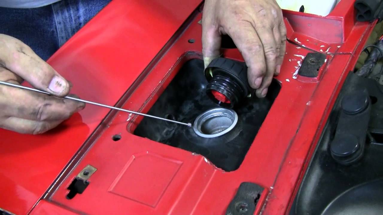 c4 corvette cutaway fuel filler maintenance