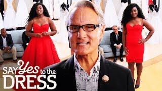 Bride Tries on a Fire Engine Red Dress | Say Yes To The Dress Atlanta