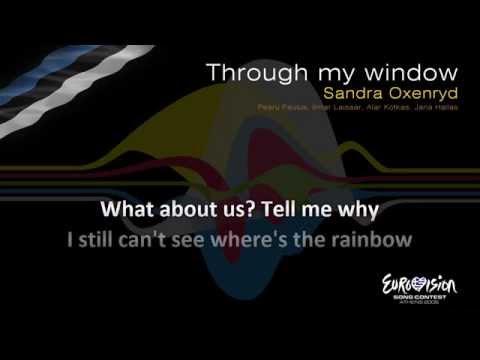 "Sandra Oxenryd - ""Through My Window"" (Estonia) - [Karaoke version]"