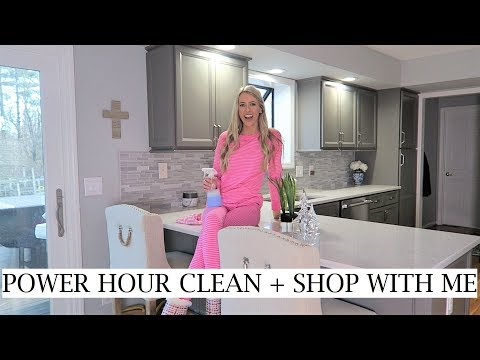 POWER HOUR CLEAN & CHRISTMAS SHOP WITH ME | CLEANING MY MESSY HOUSE | ERICA LEE