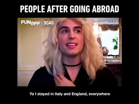 People after going abroad