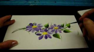 Repeat youtube video One Stroke Painted Vines and Daisys- By DJ Creations