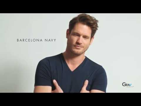 Extra lang T-shirt Barcelona - Girav - model: Barcelona navy