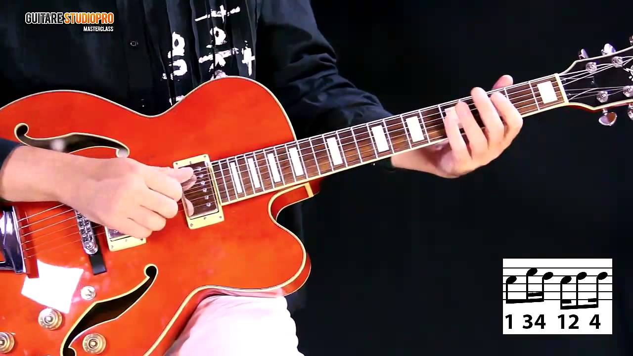 guitare 4 accords rythmique