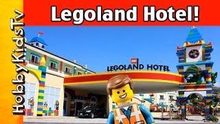 Legoland Hotel! Pirate Ship LEGO Bricks in Pool MiniFigs Tour by HobbyKidsTV