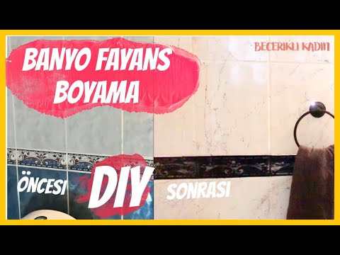 BANYO YENİLEME 🏡 FAYANS NASIL BOYANIR /PAITING TILE FLOORS IN BATHROOM