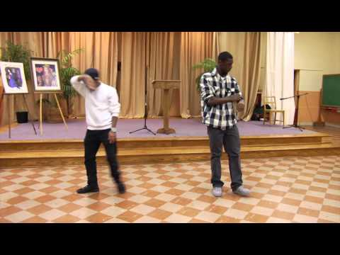 Young Wizdom perform Hip Hop Dancing : Deonte & P. J.