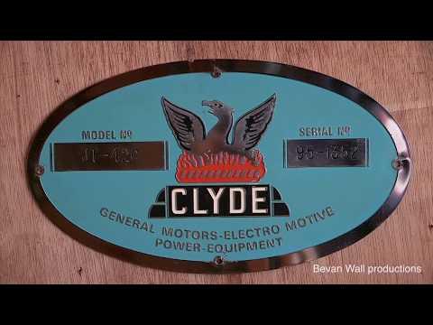 Clyde Engineering Diesel Locomotive Builders Plates