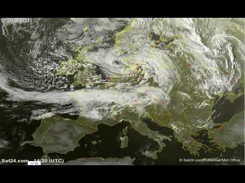 Image satellite de l'Europe maintenant