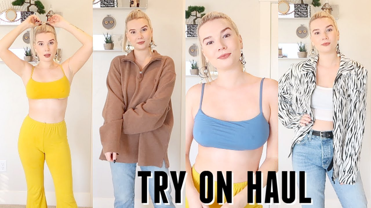 [VIDEO] - TRY ON HAUL | FALL 2019 | bras, thrifting + sustainable fashion 1