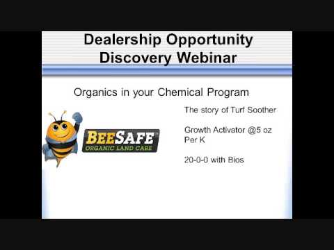 The BeeSafe Lawn Care Network Opportunity Webinar for January 2013