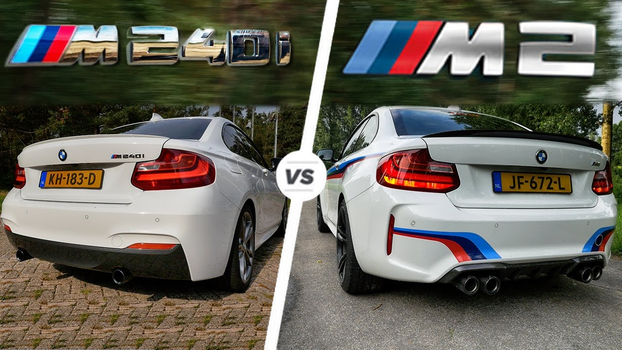 Bmw M240i Test >> BMW M2 vs M240i Acceleration SOUND Autobahn POV Test Drive - YouTube