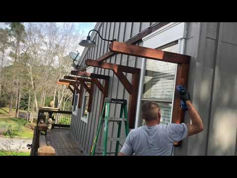 DIY Projects | Building a Cedar Awning With a Metal Roof
