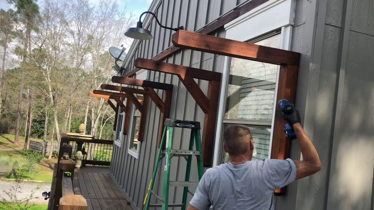 DIY Projects | Building a Cedar Awning With a Metal Roof ...