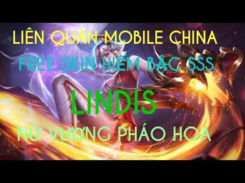 LIÊN QUÂN MOBILE CHINA TƯỚNG LINDIS SKIN NỮ VƯƠNG PHÁO HOA FREE SKIN MIỄN PHÍ KO NẠP