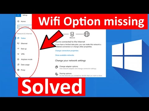 Wifi Option Not Showing In Settings On Windows 10