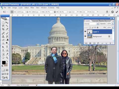 Hướng dẫn cắt ghép ảnh trong photoshop