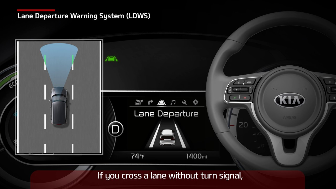 Niro Lane Departure Warning System Ldws For Us Youtube