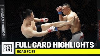 FULL CARD HIGHLIGHTS | Road FC 57