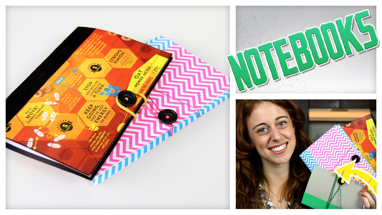 Diy notebook from a cereal box do it gurl youtube ccuart Images
