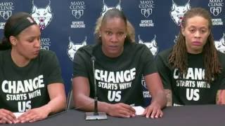 Off-duty cops walk out over WNBA players' Black Lives Matter shirts
