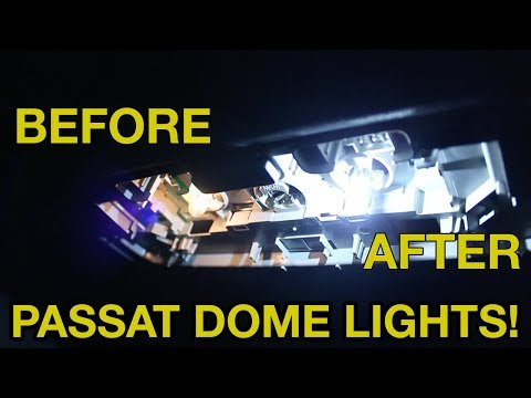 2012-2015 VW Passat Dome Light Replacement - LED Upgrade